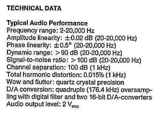 su-distribuidor audio hi-fi and hi-end: CD PLAYER PHILIPS