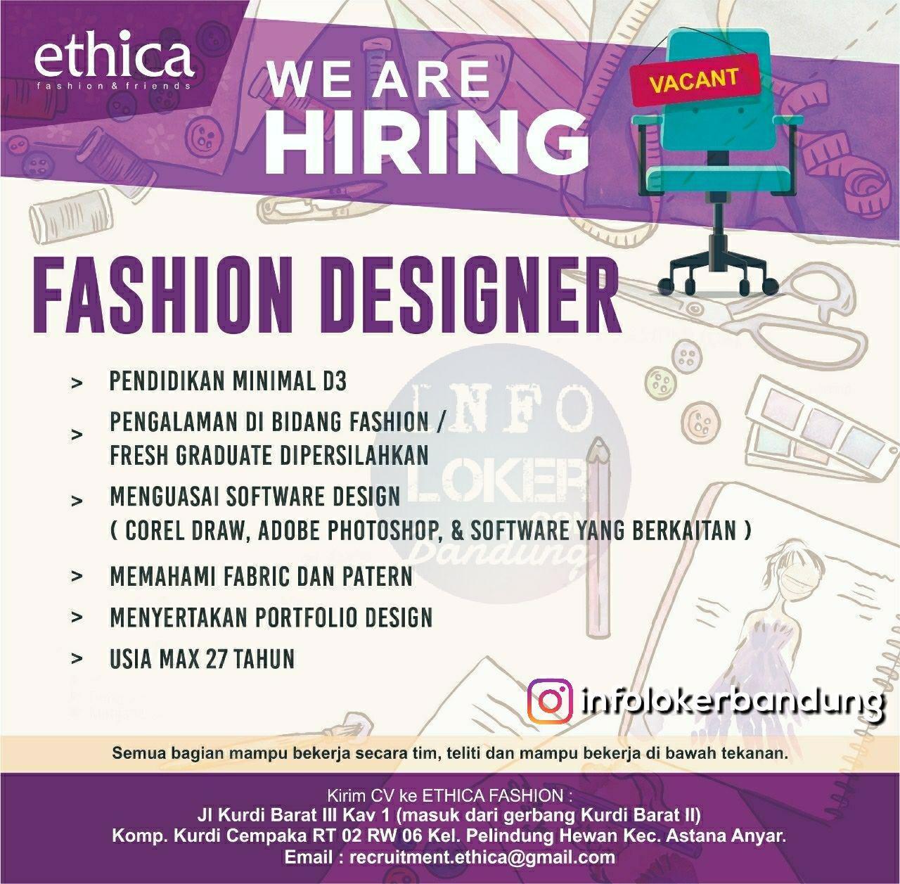 Lowongan Kerja Ethica Fashion Bandung September 2018