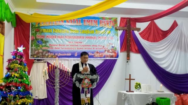 Perayaan Natal BNKP Resort 60 Langkan Berlangsung Aman