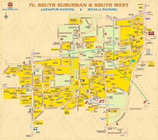 South Suburban and South West Kolkata Map