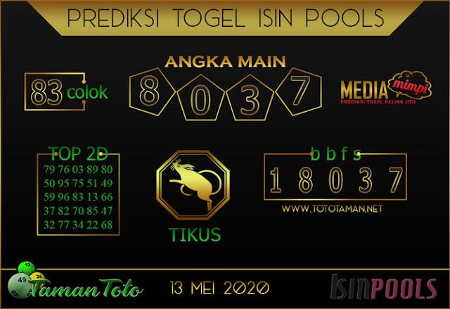 Prediksi Togel ISIN TAMAN TOTO 13 MEI 2020