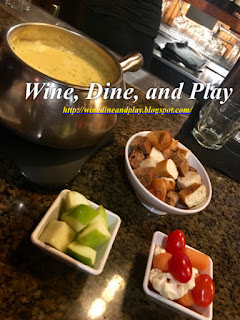 The green goddess fondue at the Melting Pot restaurant in St Petersburg, Florida has swiss, cheddar, and green goddess dressing mixed together with dipping choices.