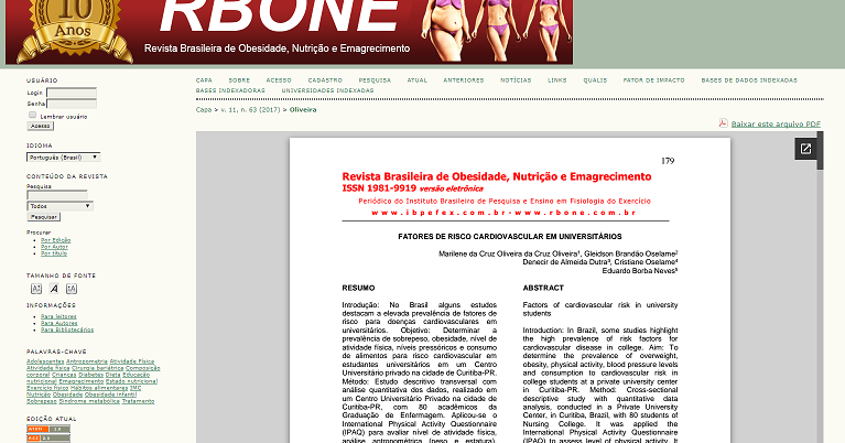 Artigos cientificos obesidade