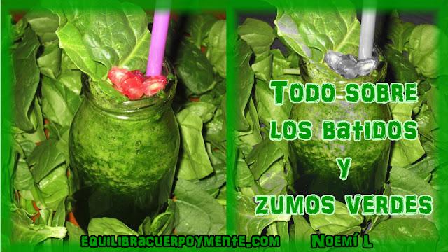 Batidos verdes, zumos verdes