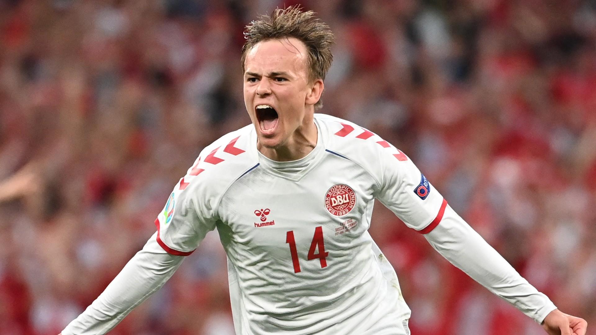 Danish midfielder Mikkel Damsgaard
