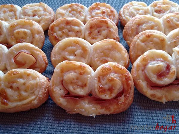 Receta de las palmeritas de queso y jamón