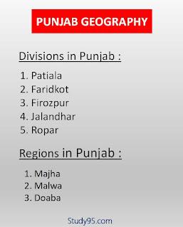 Punjab Geography Mcq