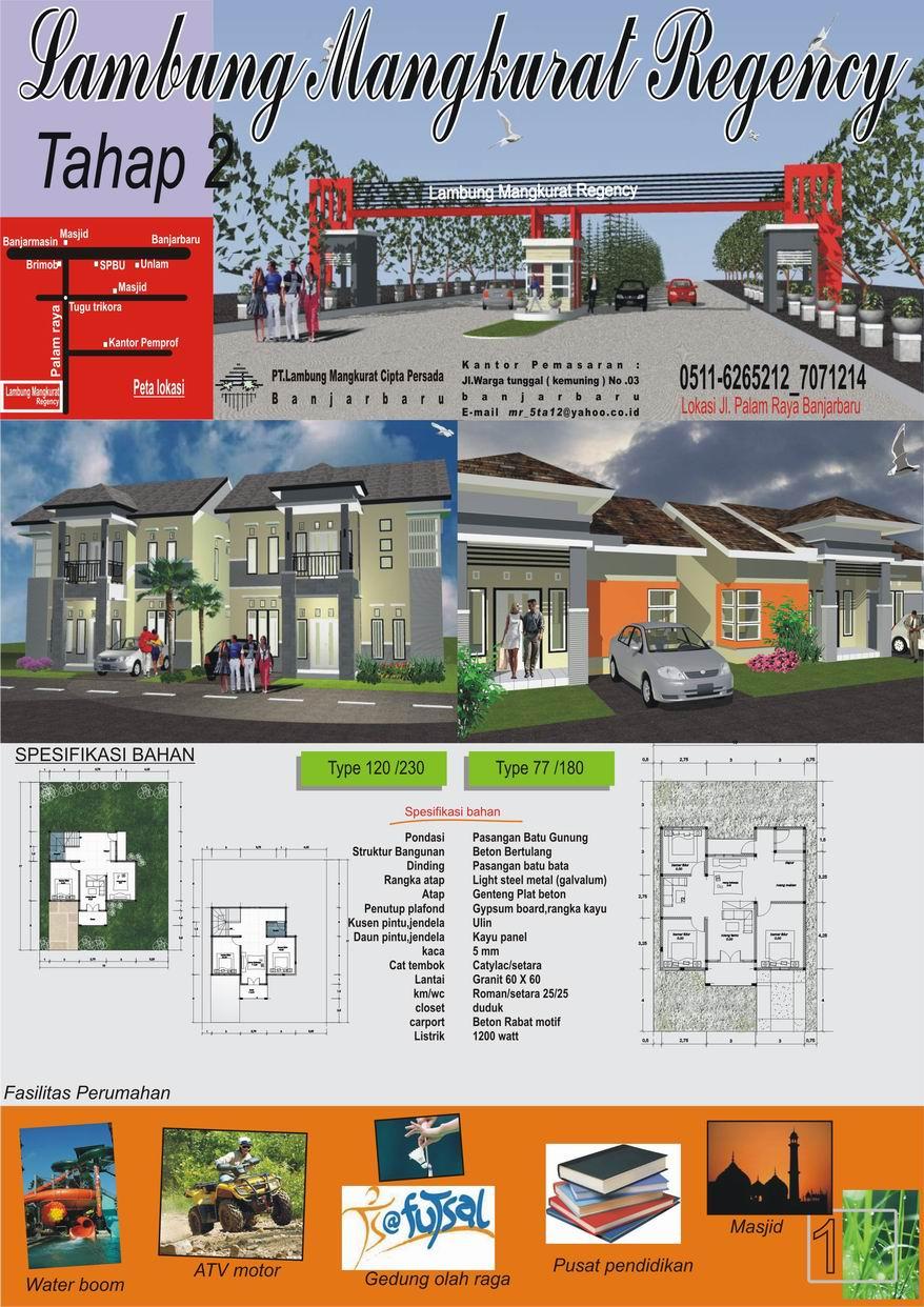Brosur Rumah Banjarbaru Lokasi Palam Rumahku