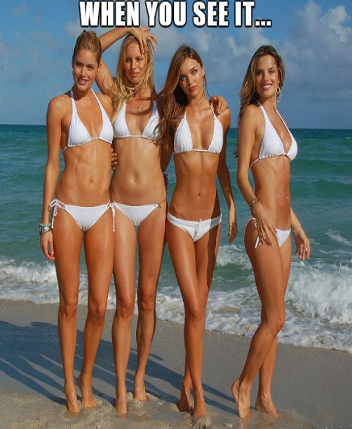 belly buttons of bikini models