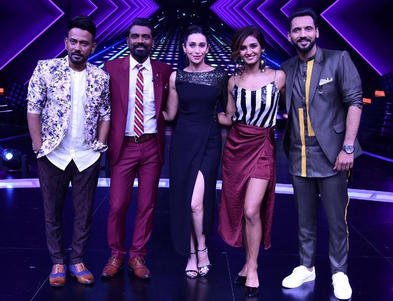 Karishma Kapoor on the set of Dance+4