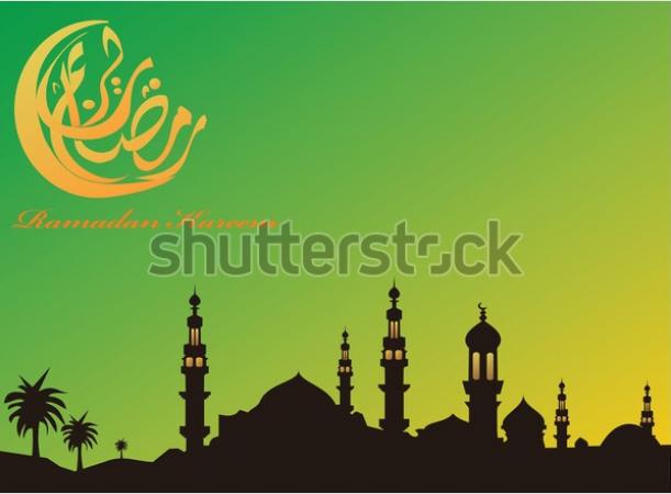 illustration templates eid mubarak