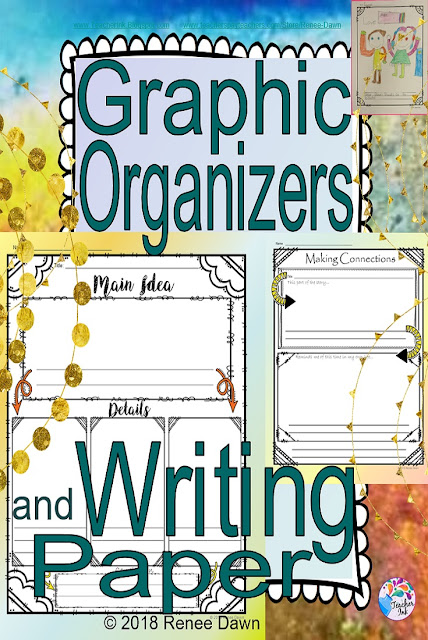 https://www.teacherspayteachers.com/Product/Graphic-Organizers-and-Writing-Paper-for-Kindergarten-3664936