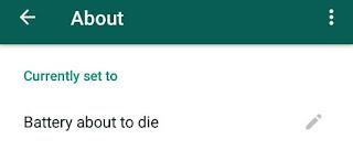 How To Set Blank WhatsApp Status