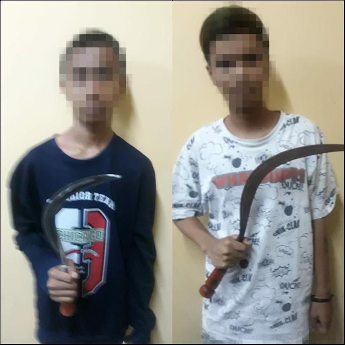Dua Pelajar Diduga Pengeroyok 2 Orang Pelajar Di Tomang Gropet  'Diamankan Polisi