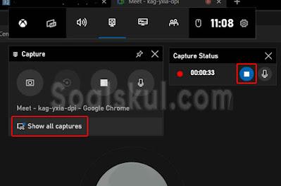 langkah 7 cara merekam layar gmeet dengan aplikasi bawaan laptop