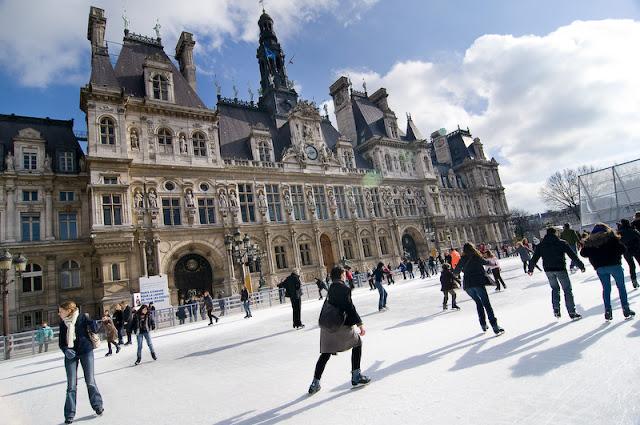 Pista patinação, Paris