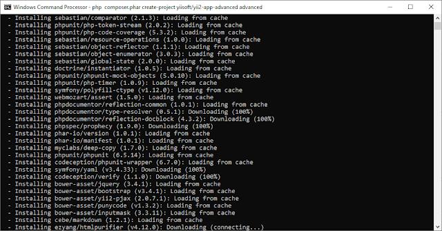 Install Framework Yii2