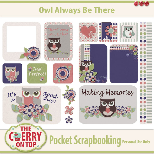 owl Always Be There, Pocket Scrapbooking Kit