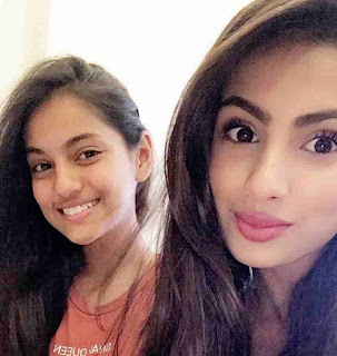 Aashna Hegde With Her Sister