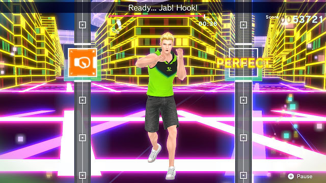 Fitness Boxing 2 Rhythm & Exercise Evan future city demo hook jab