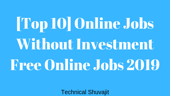 Online Jobs Without Investment
