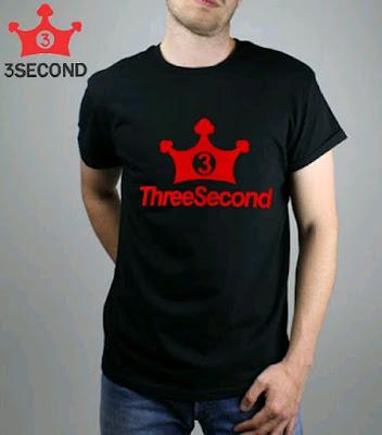 Distro Kaos Pria 3Second Pilihan Anak Muda