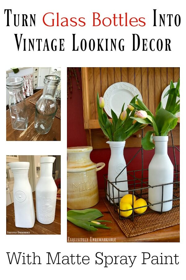 Turn Glass Bottles Into Vintage Decor