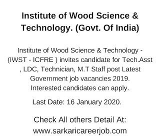 iwst recruitment - icfre recruitment.