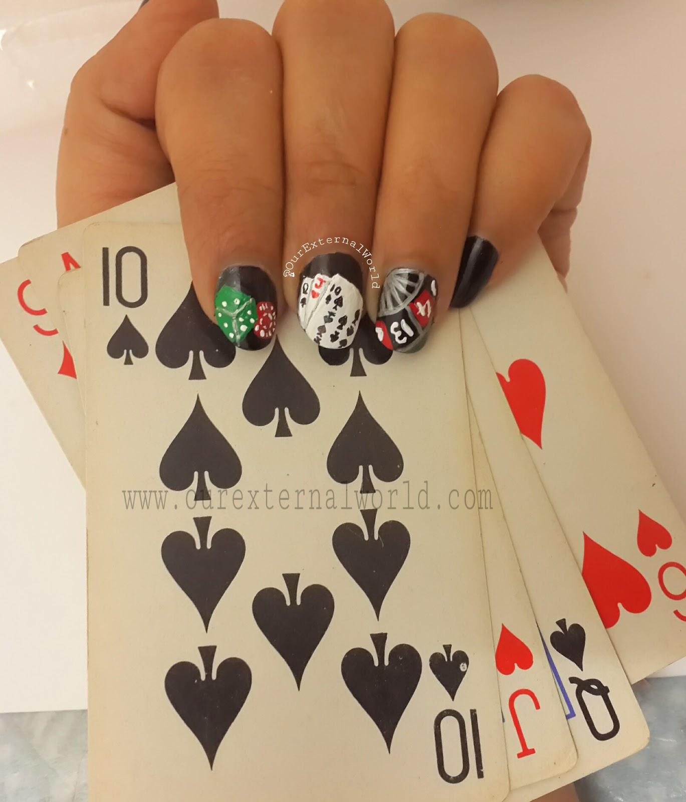 casino nails, Las Vegas, roulette. Casino Nail Art - Casino Nail Art