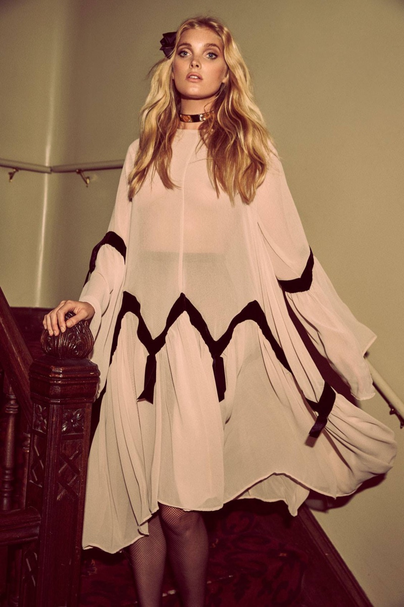 For Love and Lemons Holiday 2016 Lookbook featuring Elsa Hosk