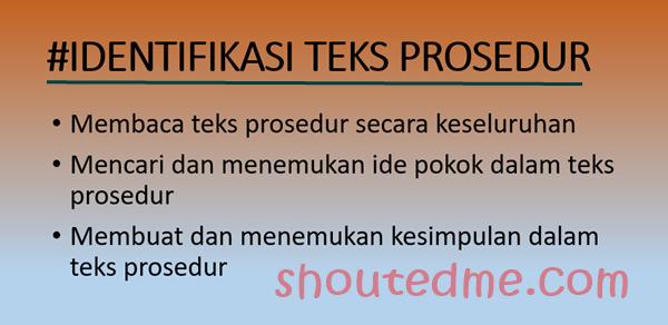 contoh teks prosedur identifikasi