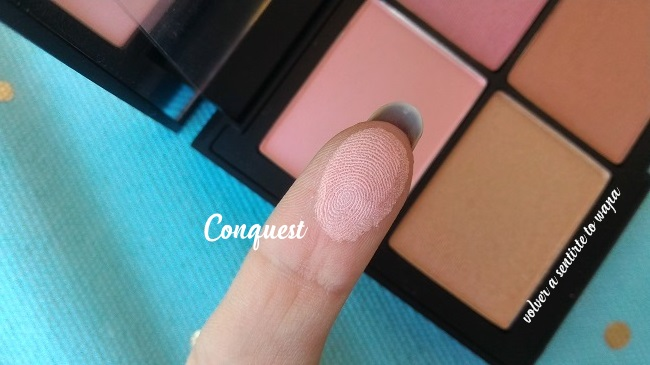 Paleta Unfiltered 2 de NARS - review & swatches - colorete Conquest