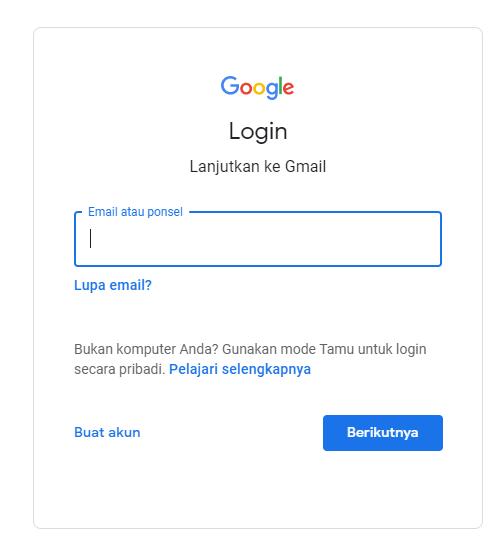 Cara Buat Email Baru di Gmail pada PC