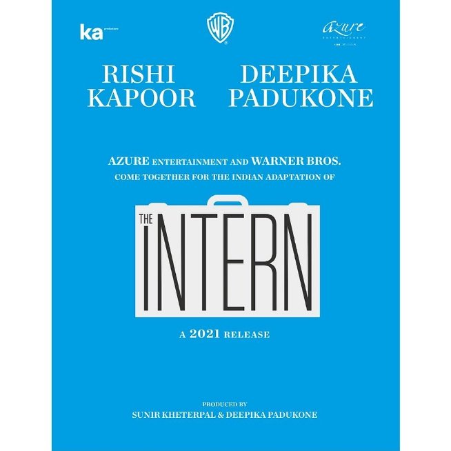full cast and crew of Bollywood movie The Intern 2021 wiki, movie story, release date, The Intern Actor name poster, trailer, Video, News, Photos, Wallpaper, Wikipedia