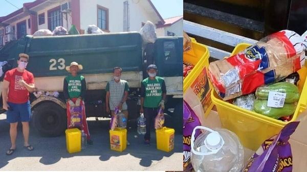Vlogger surprises garbage collectors with bins full of free groceries