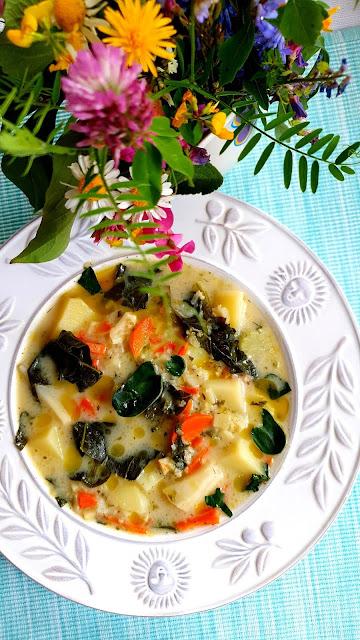 zupa ziemniaczana,zupa jarzynowa,zupa z warzywami,warzyna zupa,kuchnia polska,z kuchni do kuchni blog kulinarny,zupa ze szpinakiem,