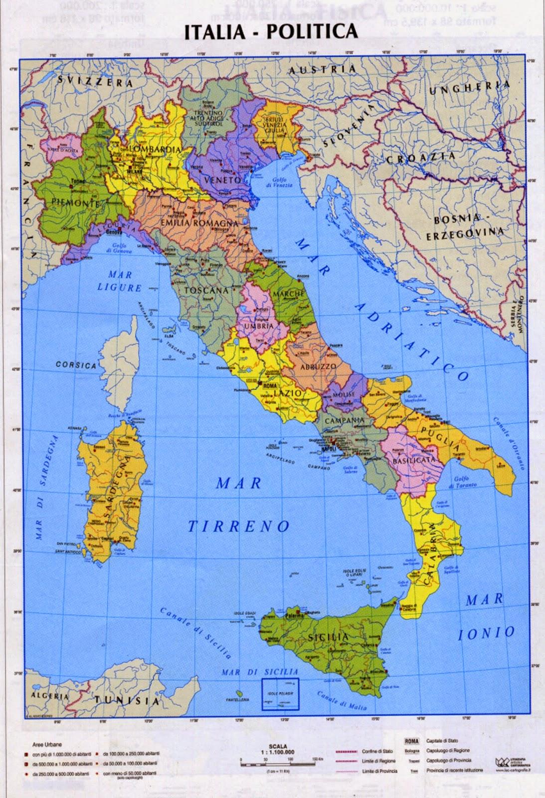 Cartina Politica Italia Alta Definizione.Prof Fiumicino I Media Carte Italia
