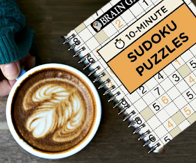 Sudoku Books:  Brain Games 10 Minute Sudoku Puzzles Book Review
