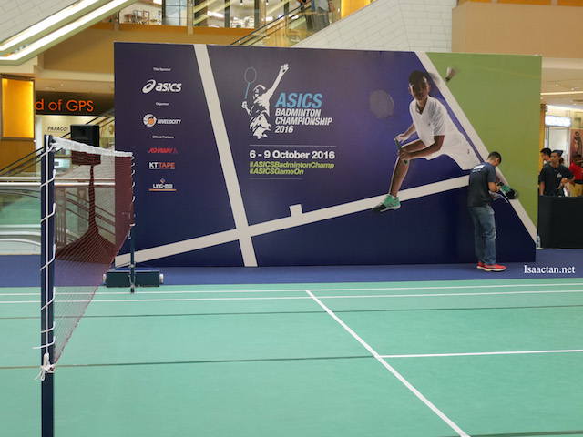 The ASICS Badminton Championship finals will be held at Sunway Pyramid Mall