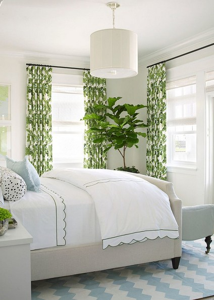 banana leaf curtains bed