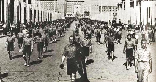 Desfile separatista en Barcelona.