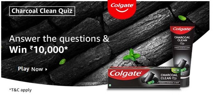 Amazon Charcoal Clean Quiz Answers for Today Win Rs.10,000