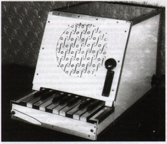 Leon Theremin's rhythmicon, the first ever rhythm machine, 1930