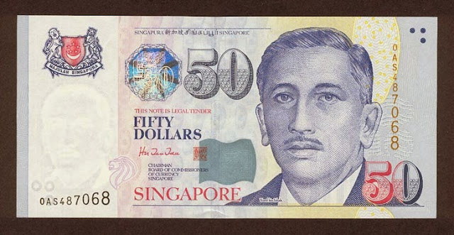 Singapore 50 dollar note