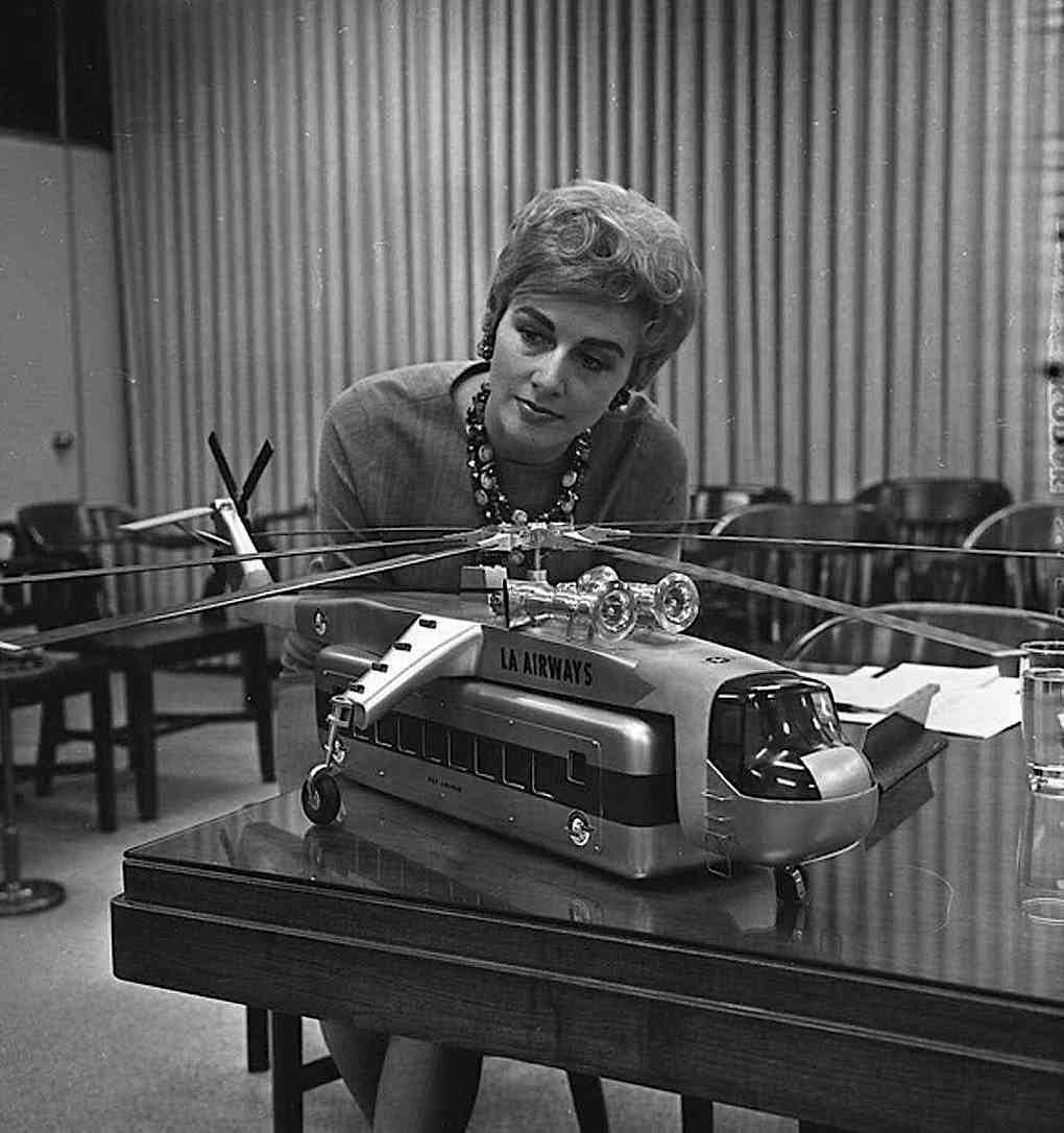1965 model & designer, a woman designer and a new type of helicopter for LA Airways