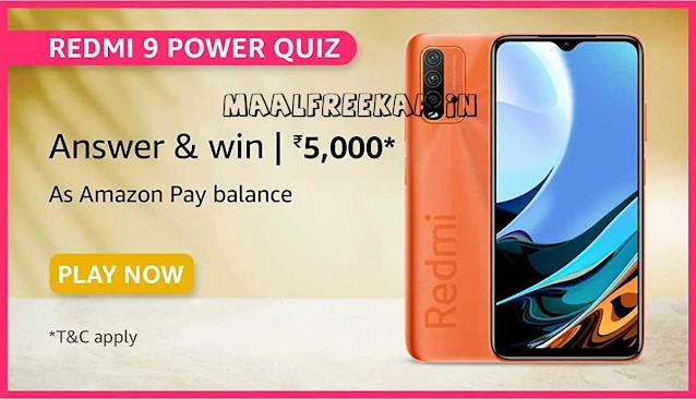 amazon prime day redmi power 9 quiz