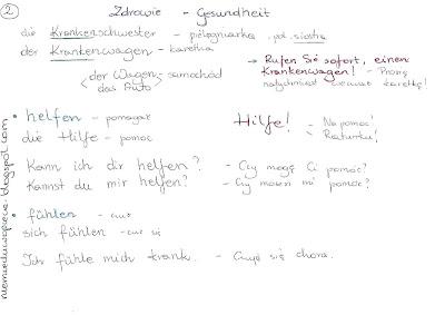 Niemiecki w opiece - Nauka niemieckiego przez Skype, materiały do nauki