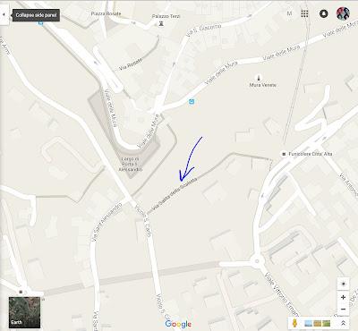 Salitta delle Scaletta shown in Google Maps