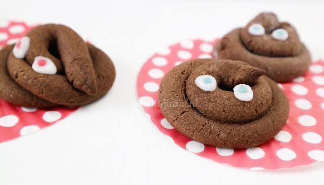 Drollen koekjes recept, recept voor drollen koekjes, drollen traktatie, traktatie drollen