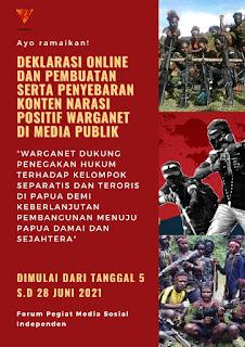 Gelar  Deklarasi Virtual, FPMSI Ajak Masyarakat Dukung Penegakan Hukum Terhadap KST Papua